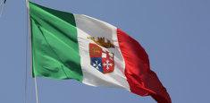 Drapeau italien Marine Militaire