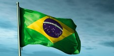 Drapeau brésilien réalisé par Flagsonline.fr pour le compte du consulat à Moscou