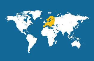 Drapeaux de l'Europe