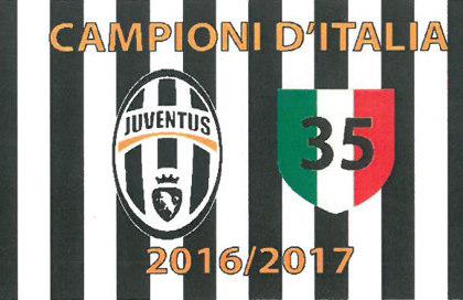 Drapeau Juventus Campione 2016/2017
