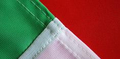Couture renforcée périmetrale drapeau Italie
