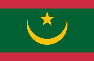 Drapeau de table Mauritanie