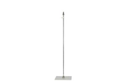 Support de table en fer chromé pour 1 drapeau