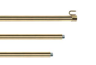 Hampe pour drapeaux en laiton doré - diamètre 22 mm