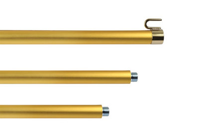 Hampe pour drapeau en aluminium anodisé doré - diamètre 22 mm