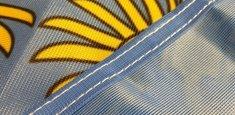 Couture renforcée périmetrale drapeau Basse Autriche