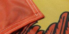 Couture renforcée périmetrale drapeau Burgenland