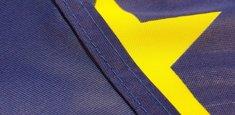 Couture renforcée périmetrale drapeau Union Européenne