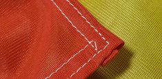 Couture renforcée périmetrale drapeau Belgique
