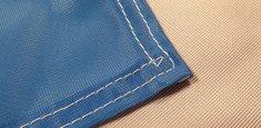 Couture renforcée périmetrale drapeau Luxembourg