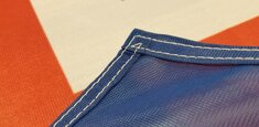 Couture renforcée périmetrale drapeau Islande