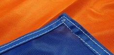Couture renforcée périmetrale drapeau Tessin
