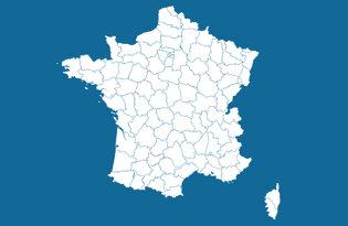 Drapeaux des départements français