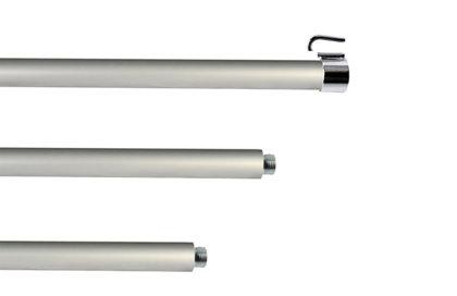 Hampe pour drapeau en aluminium anodisé - diamètre 22 mm