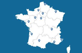 Drapeaux des villes françaises