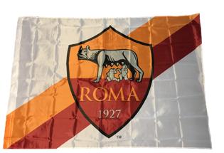 Drapeau AS Roma (fond blanc)